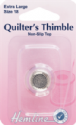 Hemline Quilters' Thimble - Size Large